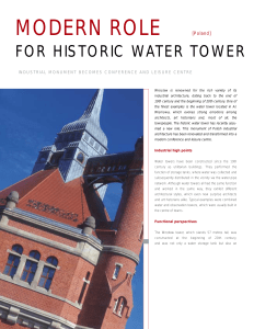 Modern role for historic water tower