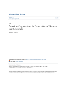 American Organization for Prosecution of German War Criminals