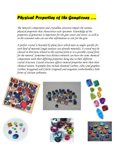 Physical Properties of the Gemstones