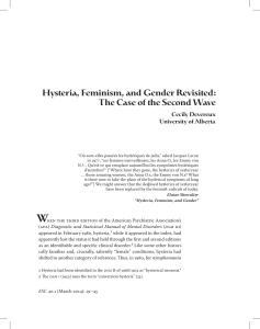 Hysteria, Feminism, and Gender Revisited