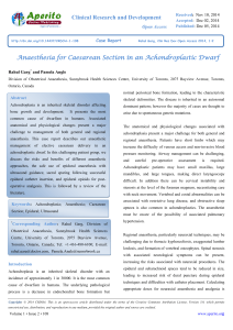 Anaesthesia for Caesarean Section in an Achondroplastic Dwarf