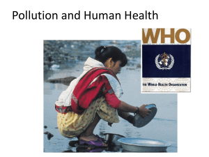 Pollution and Human Health