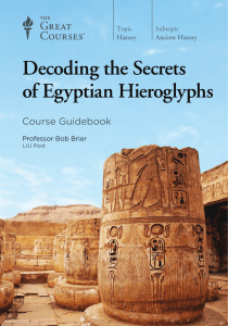 Decoding the Secrets of Eqyptian Hieroglyphs