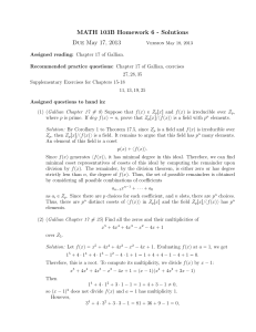 MATH 103B Homework 6 - Solutions Due May 17, 2013