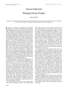 Guest Editorial Pinning Down Frailty
