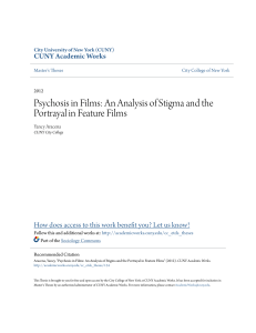 Psychosis in Films: An Analysis of Stigma and the Portrayal in