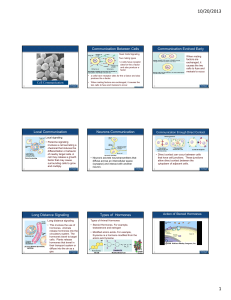 Lecture slides for 05 Cell Signallling