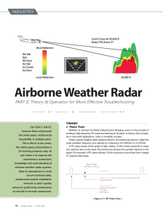 Airborne Weather Radar - The Aircraft Electronics Association