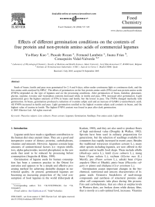 Effects of different germination conditions on the