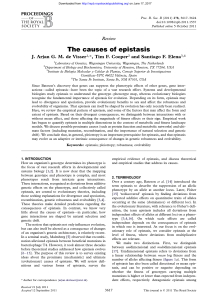 The causes of epistasis - Proceedings of the Royal Society B