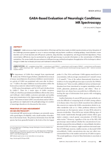 GABA-Based Evaluation of Neurologic Conditions: MR Spectroscopy