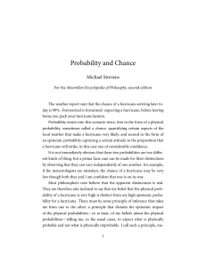 Probability and Chance