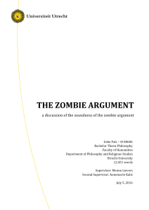 The Zombie Argument - Utrecht University Repository