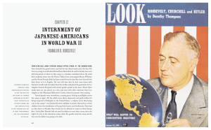 Franklin D. Roosevelt and the Internment of Japanese