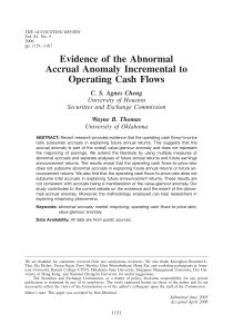 Evidence of the Abnormal Accrual Anomaly Incremental to