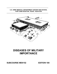 diseases of military importance