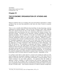 Ch.4 The Economic Organisation of Athens and Rome