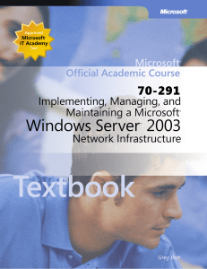 Implementing, Managing, and Maintaining a Microsoft