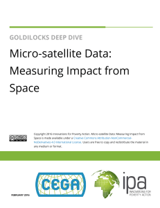 Micro-satellite Data: Measuring Impact from Space
