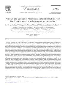 Petrology and tectonics of Phanerozoic continent formation: From