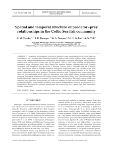 Spatial and temporal structure of predator–prey relationships in the