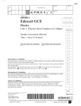 Edexcel GCE - The Student Room