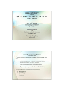 philanthropy social services and social work education
