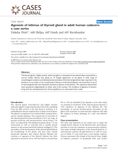 Agenesis of isthmus of thyroid gland in adult human cadavers: a