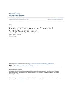Conventional Weapons, Arms Control, and