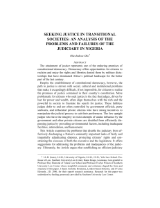 seeking justice in transitional societies: an analysis of the problems