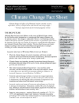 Climate Change Fact Sheet - Crown of the Continent Research