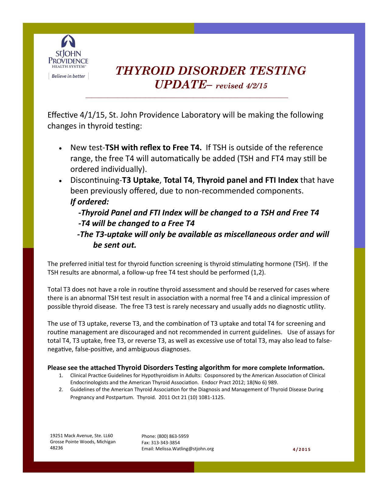thyroid disorder testing