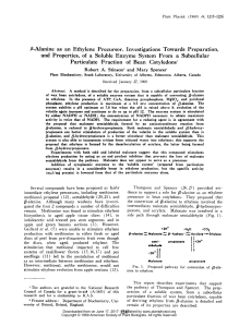 13-Alanine as an Ethylene Precursor