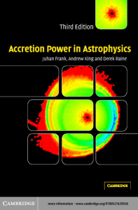 Accretion Power in Astrophysics, Third Editiion