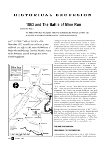 1863 and the Battle of Mine Run