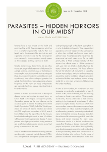 Life Sciences Issue 5: Parasites