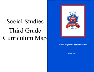Social Studies Third Grade Curriculum Map
