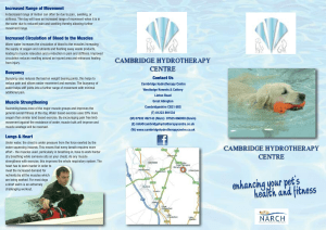 Hydrotherapy Leaflet