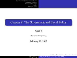 Chapter 9: The Government and Fiscal Policy