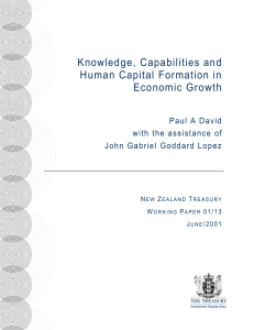 Knowledge, Capabilities and Human Capital Formation in Economic