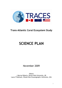 the TRACES Science Plan (Nov 2009)