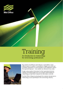 wind energy training datasheet