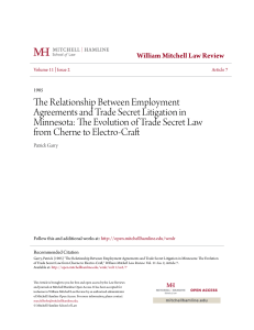 The Relationship Between Employment Agreements and Trade