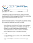 Sustainability Policy - SUNY College of Optometry
