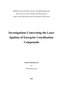 Investigations Concerning the Laser Ignition of Energetic