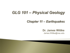 PDF file of Chapter 11 lecture - Earthquakes