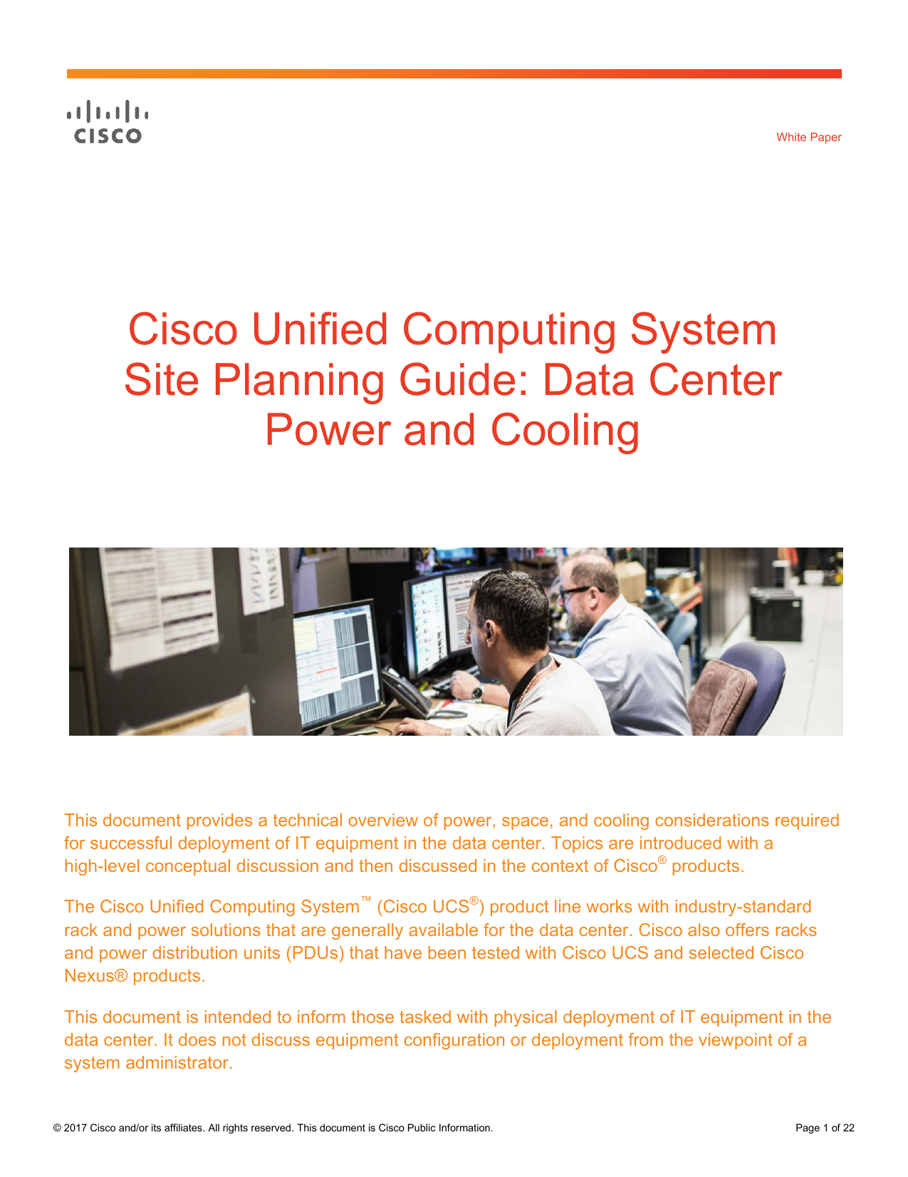 Data Center Power and Cooling White Paper