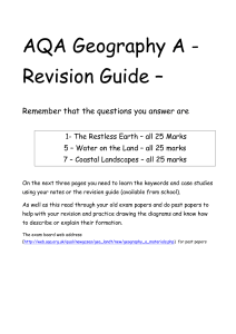 AQA Geography A - Revision Guide –