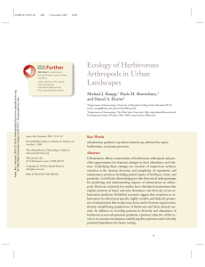 Ecology of Herbivorous Arthropods in Urban Landscapes
