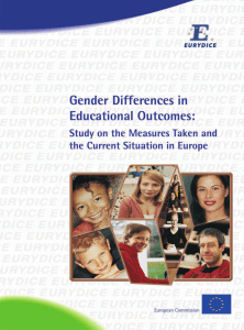 Gender Differences in Educational Outcomes. Study on the